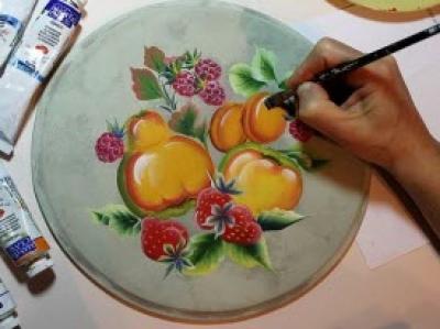 Мастер класс «Роспись по дереву, стеклу и керамике»