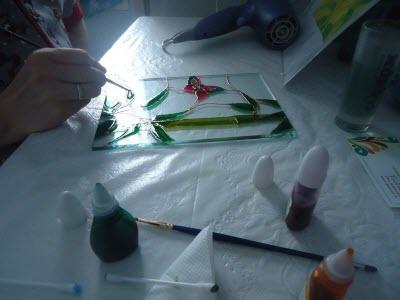 Мастер класс «Роспись стекла»